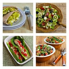 90 Healthy No-Heat Lunches for Taking to Work [#SouthBeachDiet friendly lunch ideas from Kalyns Kitchen]