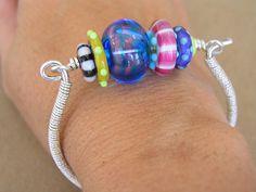 The Glass Beadle: great lamp work bracelet by Cassie Donlen