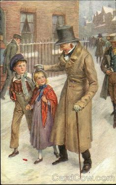 Ebenezer Scrooge (right) and the Ghost of Christmas Present, illustration from an edition of Charles Dickens's A Christmas Carol. Description from pinterest.com. I searched for this on bing.com/images