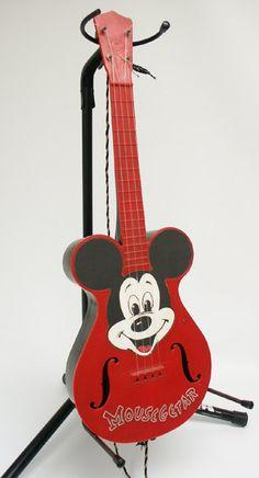 Vintage Mickey Mouse Mousegetar Ukelele Antique Vintage Disney Mattell. $90.00, via Etsy.