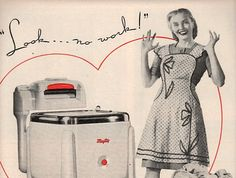 vintage pinup 1946 maytag washing machine by FrenchFrouFrou,