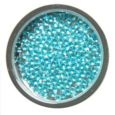 Azure- Dancing Gem Ball Marker with Hat Clip- by Navika USA. Golf accessories for women. Spring colors- Blue crystals.