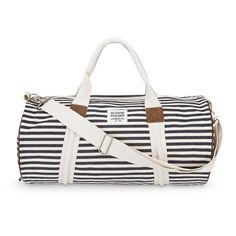 51e8862d31c56 Sloane Ranger s fully lined canvas denim stripe duffle is a classic yet  modern bag that is