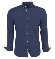 Hackett garment dye poplin shirt with classic vintage button down collar