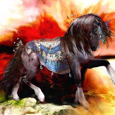 Kachina Hopi Native American Horse