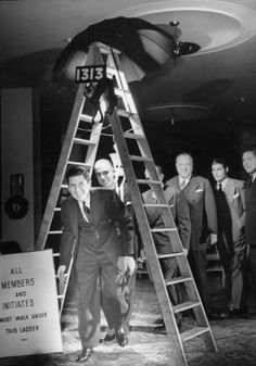 Chicago's Anti-Superstition Society: Friday the 13th Party that took place December 13, 1940, in Room 13 at the Merchants & Manufacturers Club of Chicago.