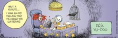 Non Sequitur comic strip Cartoon Jokes, Funny Cartoons, Halloween Cartoons, Halloween Humor, Best Puns, Non Sequitur, Calvin And Hobbes, Political Cartoons, A Comics