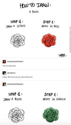 How to draw: a rose