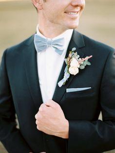 sharp groom, love the powder blue bowtie