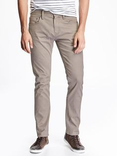 Built-In-Flex Plush-Sateen Pants for Men
