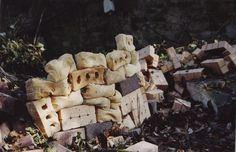 Installation,'Bricks'- latex, flour April2006