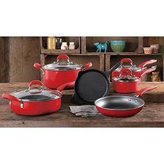 Shop a great selection of The Pioneer Woman Vintage Speckle Non-Stick Pre-Seasoned Cookware Set, Red Dishwasher Safe. Find new offer and Similar products for The Pioneer Woman Vintage Speckle Non-Stick Pre-Seasoned Cookware Set, Red Dishwasher Safe. The Pioneer Woman, Pioneer Woman Dishes, Pioneer Woman Kitchen, Pioneer Woman Recipes, Pioneer Women, Kitchen Items, Kitchen Gadgets, New Kitchen, Kitchen Decor