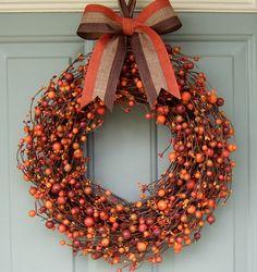 Fall Wreath - Wreath for Fall - Fall Berry Wreath on Etsy, $49.00