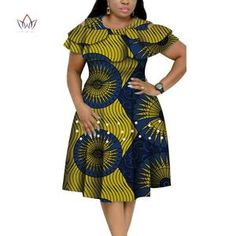 New Bazin Riche African Ruffles Collar Dresses for Women Dashiki Print Pearls Dresses Vestidos Women African Clothing African Dresses Plus Size, Short African Dresses, Latest African Fashion Dresses, African Print Fashion, African Dresses Online, Latest Fashion, African Fashion Traditional, African Attire, Collar Dress