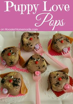 Puppy Love Pops Valentine's Day Treat ~ Recipe and Instructions... create them for your kids, a Classroom Treat or even your sweetie