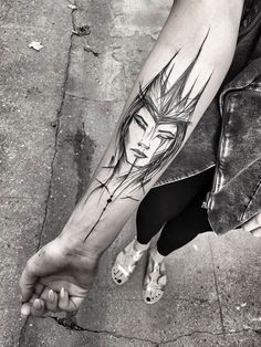 Polish Tattoo Artist Shows The Beauty Of Imperfection With Her Sketch Tattoos (10+ Pics)