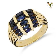Blue-Sapphire-Marquise-Cut-Statement-Ring-Set-in-14k-Solid-Yellow-Gold-2453