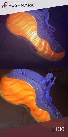 e75c5f99df95 NY Knicks Nike Foamposites Knicks Color Nike Shoes Sneakers