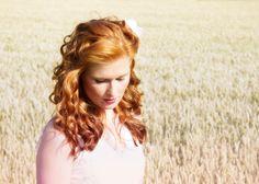 Hübsche rothaarige Sommerbraut, Frisurenshooting mit Salon Haarkunst, Martina Schepperle-Kästner