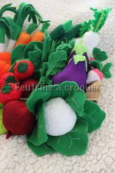 panier de légumes en feutrine - felt food - dinette en feutrine - jouet pour enfant