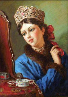 Nagornov Vladislav - Collier de perles - 46x33 - H - by Hôtel des Ventes d'Enghien