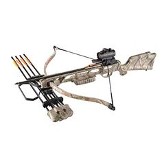 Leader Accessories Archery Equipment Hunting Bow Crossbow Package with Quiver and 4pcs of Aluminum Arrow (160lbs; 210fps /Green Camo) Leader Accessories http://www.amazon.com/dp/B016JMR5DW/ref=cm_sw_r_pi_dp_2Fkbxb0GEDFJ4