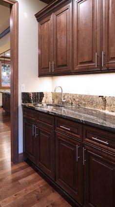 Timberlake scottsdale maple mocha glaze cabinet picked for Chocolate maple glaze kitchen cabinets