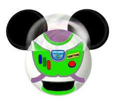 Buzz Lightyear from Toy Story inspired Mickey by SwirlyColorPixels Deco Disney, Disney Mouse, Disney Ears, Disney Diy, Disney Crafts, Walt Disney, Disney Family, Disney Stuff, Hades Disney