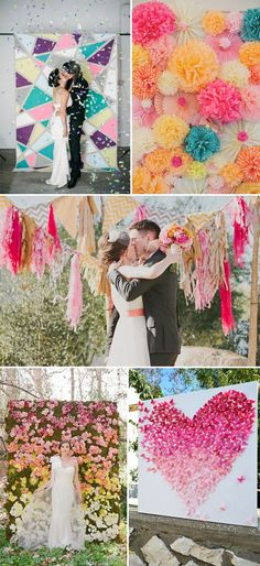 colorful backdrops for ceremony decoration wedding ideas 2015- Repinned by City Line Florist -Trumbull Florist
