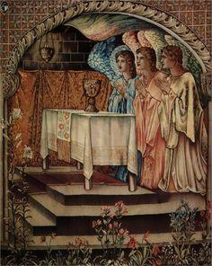 Achievment Galahad the Sang Graal - Edward Burne-Jones - WikiPaintings.org