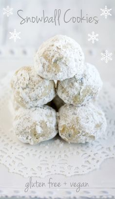 These delicious snowball cookies are gluten free and vegan and are a tasty treat for any holiday cookie tray!