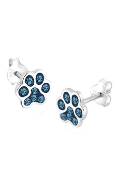 Elli Women 925 Sterling Silver Paw Swarovski Crystals Earrings 0302741313