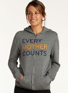 Hoodie that gives back. 40% of proceeds go directly to @everymomcounts. #givingtuesday