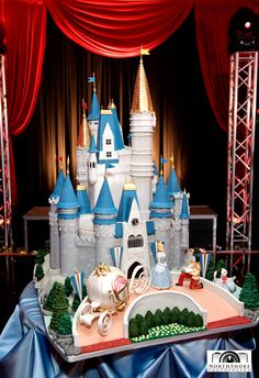 Amy Beck Cake Design - Chicago, IL - Princess Castle Birthday Cake - #amybeckcakedesign