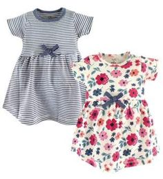 Touched by Nature Toddler Girls' Dresses, 2-pack #toddlergirl, #dress, #organiccotton, #promotion