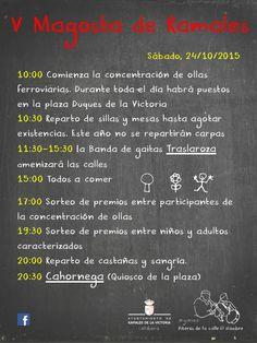 V MAGOSTA DE RAMALES El Sábado 24 de Octubre, con actividades y actuaciones durante todo el día. +info: http://on.fb.me/1ZXCkLD
