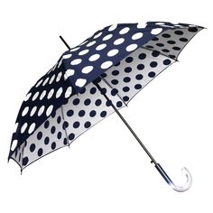Clifton Double Cover Dot Series Navy - Available now at Umbrellas & Parasols