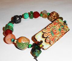 Botanicals and Stones Assemblage Knotted by MountainMagicJewelry
