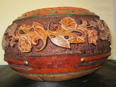 Carved bowl, First place - vessel, bowl, vase category, Master Division  Texas Gourd Show 2014