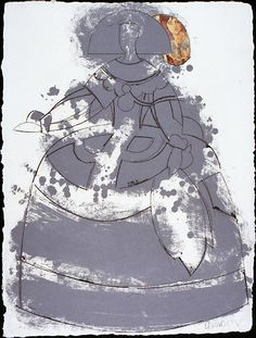 Manolo Valdés, Las Meninas, Ten etchings with collage on handmade paper… Peggy Guggenheim, Pop Art Movement, Modern Portraits, San Francisco Museums, Spanish Artists, Art File, Gravure, Line Drawing, Art History