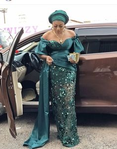 This post is collection of gorgeous styles you can wear to any wedding party. Wedding Aso-ebes comes in any fabric depending on the choice of the couple and/or the family of the couple. Nigerian Lace Styles Dress, Lace Gown Styles, African Lace Styles, African Prom Dresses, Latest African Fashion Dresses, African Inspired Fashion, African Dresses For Women, African Attire, African Fashion Traditional