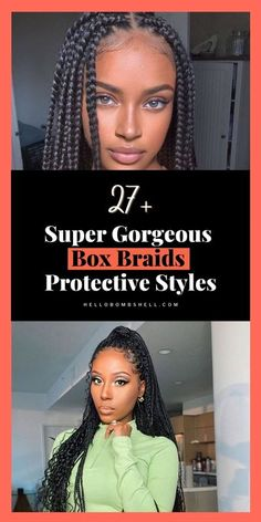 Braided hairstyles for black women is a perfect protective hairstyle for African American women with natural hair and relaxed hair alike. Love box braids? From jumbo to medium to small — here are beautiful box braids ideas to try including knotless box braids. African Braids Cornrows Styles like Havana Twist Box styles. Perfect for little girls, Black Women and men. See kids & naturals w/ beads, Faux locs, ponytail, feed ins videos. Simple & big goddesses locs in Ghana. Box Braids Hairstyles For Black Women, Braids For Black Women, Relaxed Hair, Colored Box Braids, Beauty Make-up, Hair Beauty, Short Box Braids, The Beast, Cut Her Hair