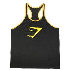 Gyúrós edző trikó férfi fekete sárga Edzéshez,fitneszhez, testépítéshez! Már 2 db-tól INGYENES szállítás! Többféle színben és méretben!Csak NÁLUNK elérhető