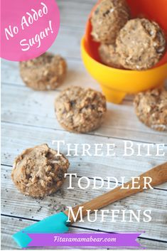 toddler muffins, snacks for kids, healthy snacks for toddlers, healthy muffins, no added sugar, vegan, clean eating Muffin Recipes, Baby Food Recipes, Gourmet Recipes, Snack Recipes, Healthy Recipes, Cooking Recipes, Healthy Toddler Muffins, Healthy Muffins, Healthy Snacks For Kids