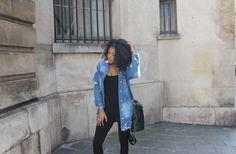 Veste en jean, combi et reflexions