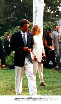 Best man John Kennedy Jr. 1994 @ cousin Anthony Radziwill's wedding.