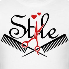 Hairstylist Apparel   - Mens T-Shirt Vinyl Crafts, Vinyl Projects, Beauty Art, Beauty Shop, Hair Stylist Shirts, Power Season, Hair Salon Logos, Hairstylist Quotes, Salon Business Cards