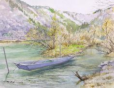 一艘の川舟(小本川河口)F6ストラスモア、クサカベ