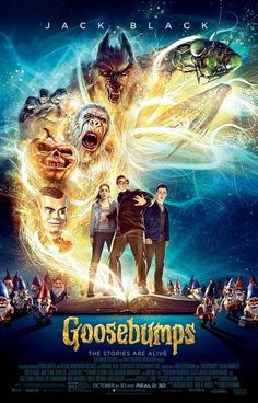 The Official Poster For GooseBumps Arrives In Grueling Terror. Goosebumps movie  #Goosebumpsmovie