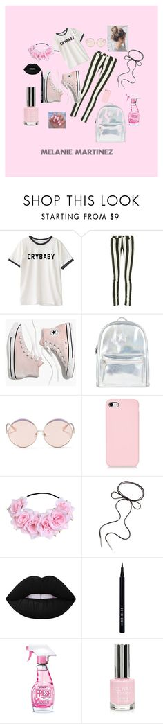 """""""melanie martinez"""" by lilybelle04 on Polyvore featuring Off-White, Madewell, Accessorize, N°21, Kendra Scott, Lime Crime, Bobbi Brown Cosmetics, Moschino and Topshop"""